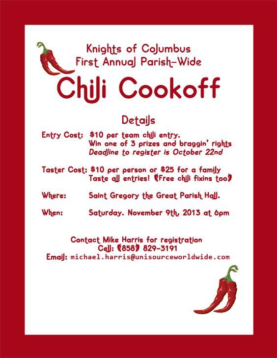 Informative speech chilli cook off