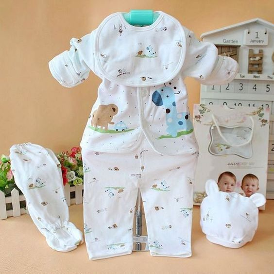 $6.68 (Buy here: http://appdeal.ru/7wvk ) Newborn Baby 100% Cotton Shirt and Pants Suits Infant Clothes Outfits 0-3M for just $6.68