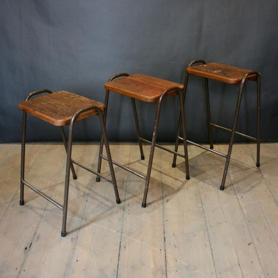 Vintage industrial stacking stools for sale on SalvoWEB #reclaim #reuse #repeat