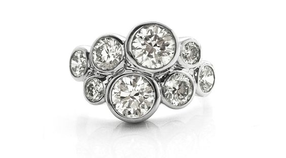 modern cluster ring - This ring is just like my cluster diamond ring :) xXx