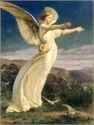 Angel, artist unknown, late 19th century.