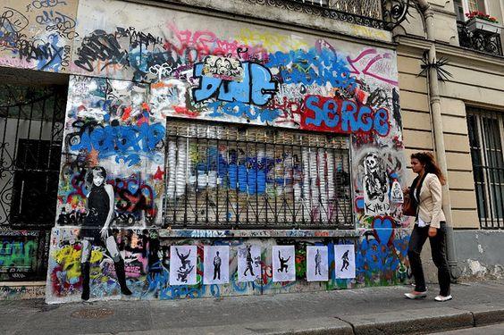 ZHE155 + Glitagrrl + Helio + Killed + Nana : Street Art Without Borders tribute to Serge Gainsbourg by urbanhearts, via Flickr