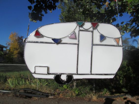 Stained Glass Canned Ham trailer with a by TheHuckleberryBucket