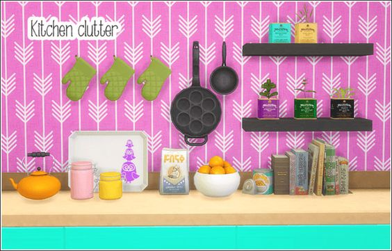 Kitchen clutter at Lina Cherie • Sims 4 Updates