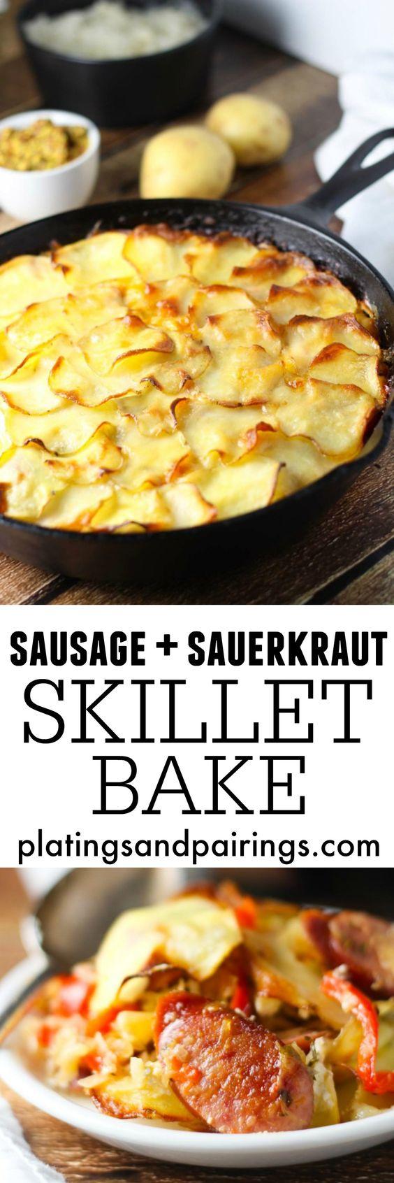 Polish Sausage Kraut Skillet Recipe — Dishmaps