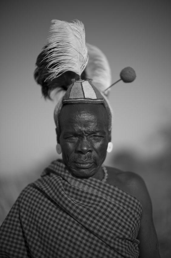 Africa | Lobual Longuarakori a Jie clan elder.  Lokochil, Kotido District, Karamoja, Uganda | ©Alfred Weidinger