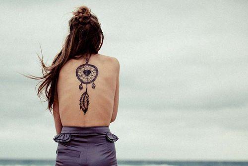 love dreamcatcher tattoos: