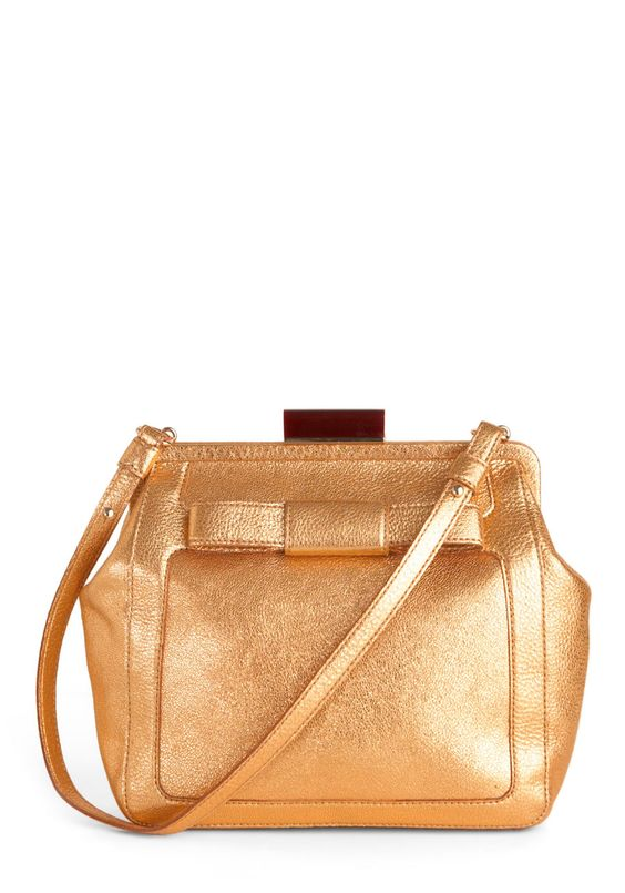 Orla Kiely Gold It Dear Bag by Orla Kiely | Follow this link for $ 20 off your first purchase! http://sharethelove.modcloth.com/a/clk/4rpvmQ
