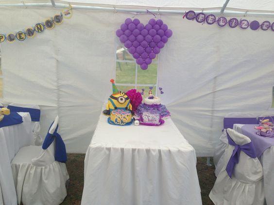 Cumpleaños de violetta y minions