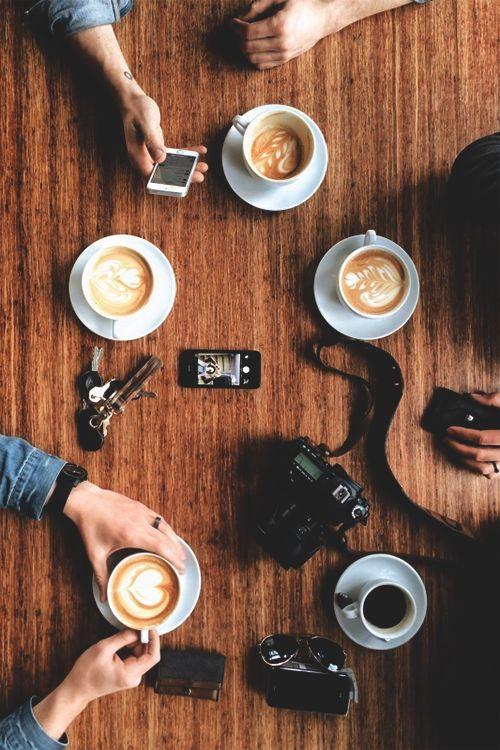 Saturday Coffee - Amigos, fotos, e cafés. Quer companhia melhor pra iniciar uma tarde?!: