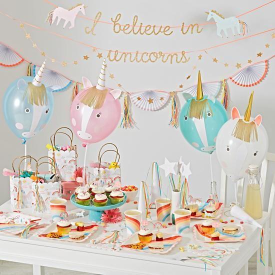 Guirnaldas feliz cuarto cumpleaños: Fiesta unicornios kidsandchic