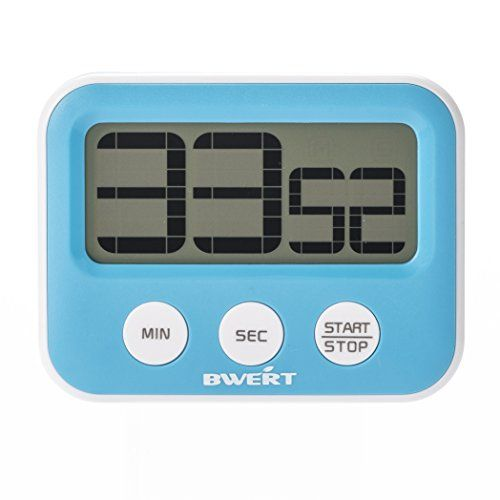 Amazon.com: Bwert Digital Kitchen Timers Large LCD Display Best Commercial Novelty Desktop Countdown Timer Clock for Cooking With Strong magnet Loud Alarm, Minutes/Seconds: Kitchen & Dining
