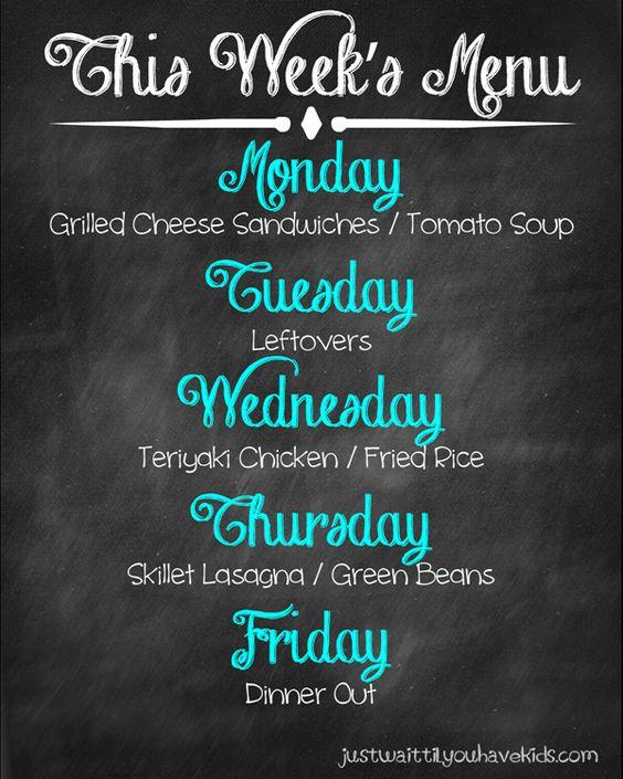 February Week 3 Meal Plan