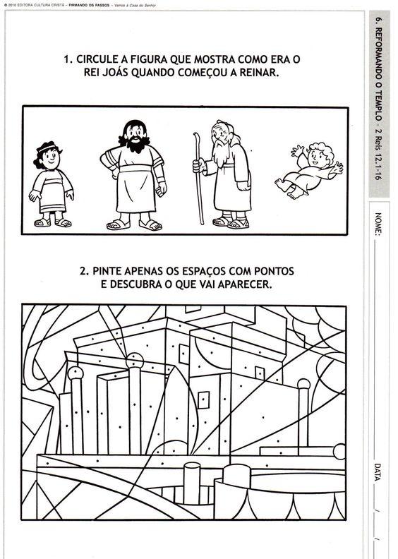 atividades biblicas rei joás - Pesquisa Google                                                                                                                                                      Más: