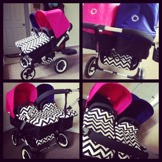 bugaboo donkey twin stroller with custom fabric it by. Black Bedroom Furniture Sets. Home Design Ideas
