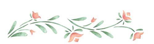 3.5 inch Tulip Border | Designer Stencils