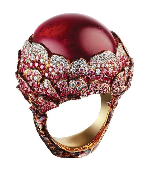 "Peony"" Tourmaline Ring via 'beauty-bling-jewelry.tumblr' ♥≻★≺♥STUNNING!♥≻★≺♥"