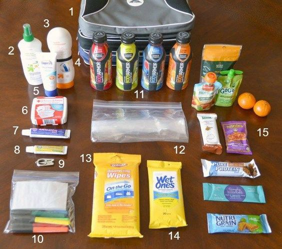 Sports Mom Bag Essentials  Modified to include toxin free alternatives for many of the products, of course.