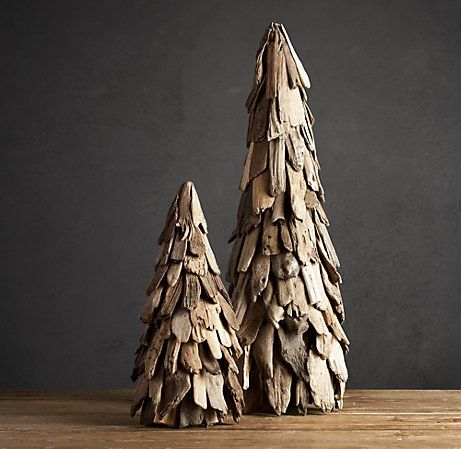 driftwood Christmas trees