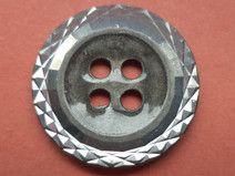 6 METALLKNÖPFE silber 18mm (2938-2) Knöpfe Metall
