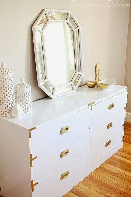 An amazing campaign dresser makeover from a $50 Craigslist find on www.decoratingdelirium.com