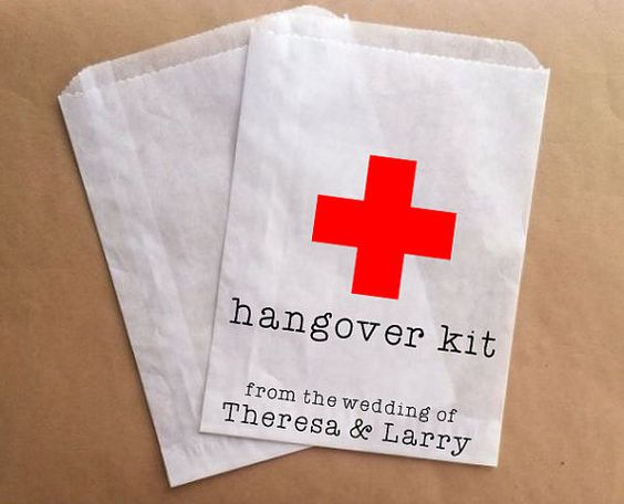 Hangover Kit Bags Wedding Favor Bag Hotel by prettypaperparlor, $25.00
