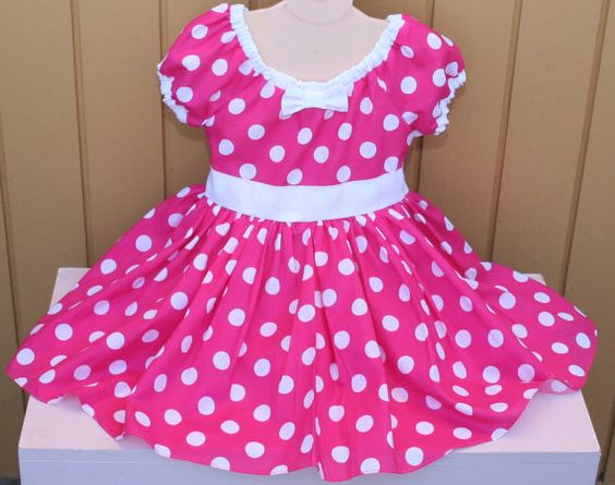 MINNIE MOUSE dress  Party Dress  in Hot by loverdoversclothing, $49.00 --- Stella's Halloween Costume?