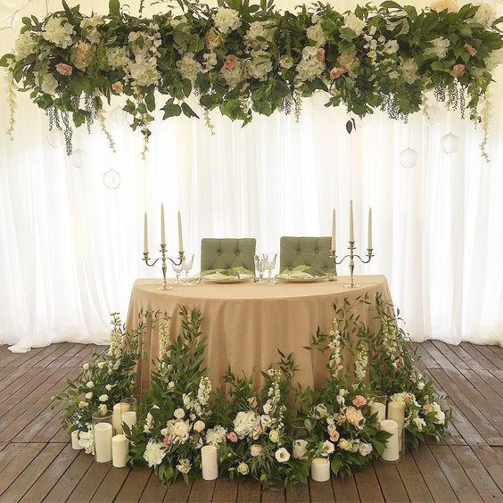 Mesas perfectas para tu Boda y tus invitados