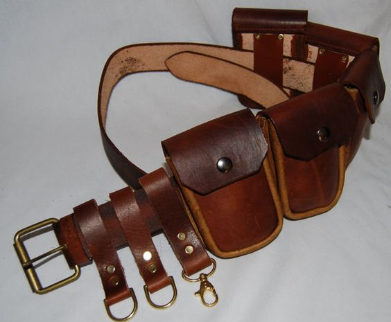 Steampunk Belt with Pouches by DaVinciSteampunk on Etsy, might have to give making one of these a go myself