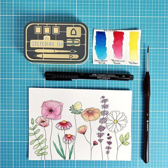 Pin Auf Watercolor Und Aquarell