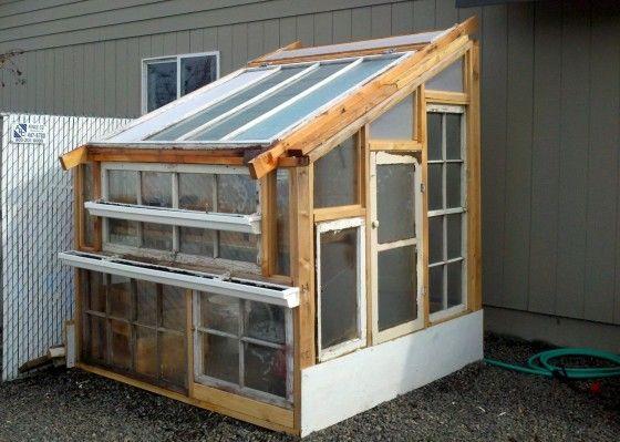 DIY Upcycled greenhouse