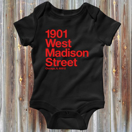 Baby Chicago Basketball and Hockey Stadium One Piece - Chicago Infant Romper - Newborn 6M-12M-18M-24M - 4 Colors - CBHS