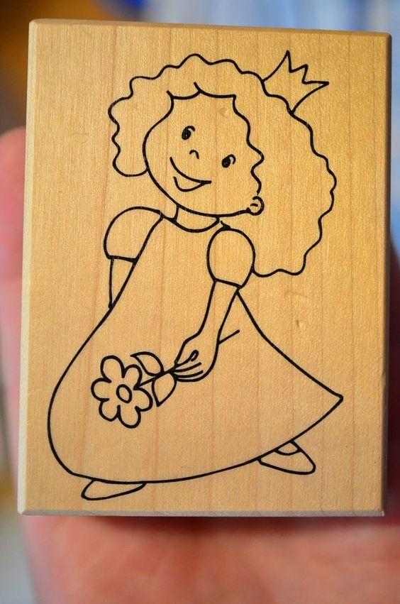 Entzückende Prinzessin mit Krone und Blume Stempel 8 x 6 cm Neu ! http://cgi.ebay.de/ws/eBayISAPI.dll?ViewItem&item=351017024249