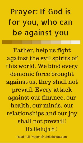 Ephesians 6:12 For we do not wrestle against flesh and blood, but against principalities, against powers, against the rulers of the darkness...