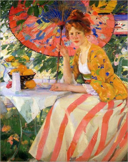 Young Lady with Parasol - 1910 - Karl Albert Buehr (German painter):