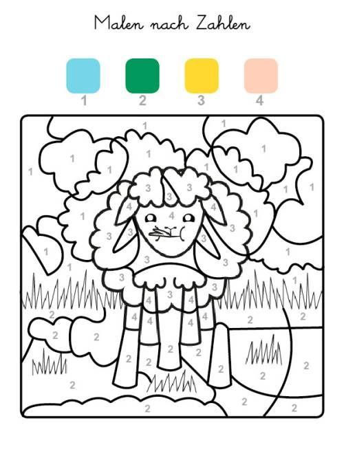 Kostenlose Malvorlage Malen Nach Zahlen Schaf Ausmalen Zum Ausmalen Malen Nach Zahlen Malen Nach Zahlen Vorlagen Malen Nach Zahlen Kinder