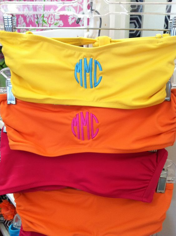Monogrammed bathing suits. love this!