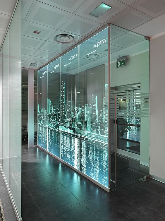 Design Gallery / Glass walls / Laser glass finishing machines / CERION GmbH / 3D laser glass finishing and sub-surface glass engraving