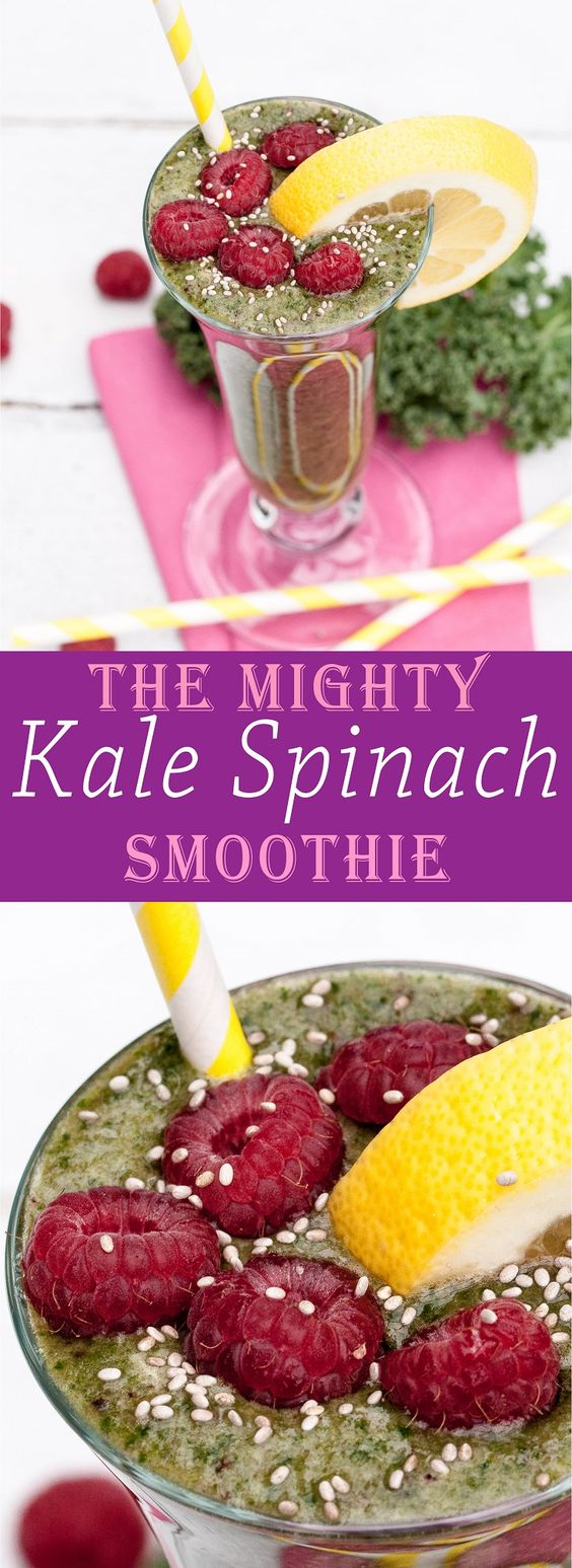 Kale Spinach Smoothie | Recipe | Kale, Smoothie and Spinach Smoothie ...