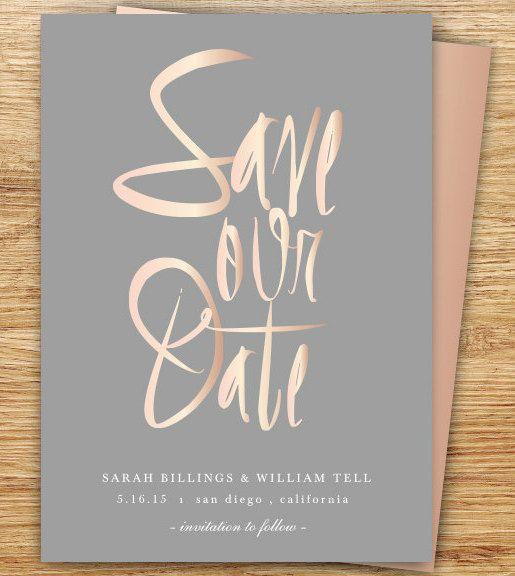 Invitaciones Oro Rosa