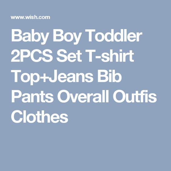 Baby Boy Toddler 2PCS Set T-shirt Top+Jeans Bib Pants Overall Outfis Clothes
