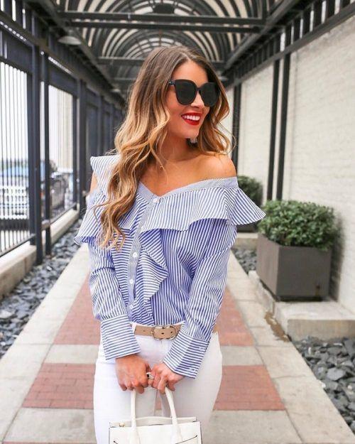 Самые модные блузки 2018-2019 года: фото, идеи образов с блузками, тренды. Модные тенденции блузок в сезоне: лучшие модели блузки, новинки, фасоны блуз. Красивые луки с блузками в деловом и нарядном варианте, блузки с рюшами, открытыми плечами, V-вырезами, кружевные и прозрачные блузки для женщин.