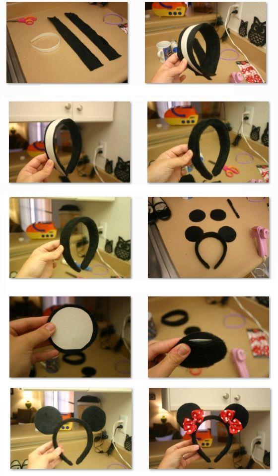 Como hacer una diadema de minnie mouse facil y rapido!