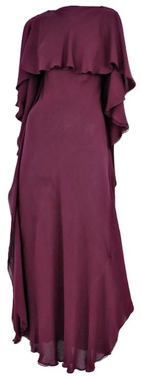 Plum double layered chiffon gown, Halston, 1970s; 1stdibs.com