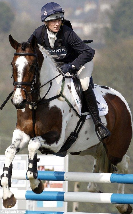 Zara Phillips MBE took part in the Gatcombe horse trials in Gloucestershire