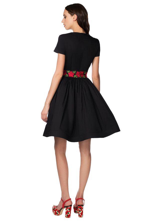 Платье с юбкой-солнце и расшитым поясом Dots & Pins DOTS&PINS 2000000139968, купить за 9190 руб в интернет-магазине TopTop.ru