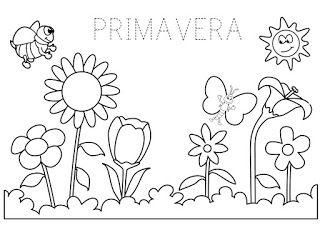 Disegni Da Colorare Primavera.La Maestra Linda Primavera Disegni Da Colorare Estate