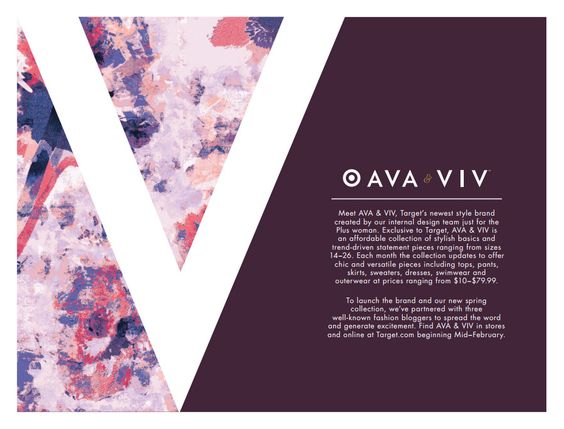 The Curvy Fashionista | Target's New Plus Size Label AVA & VIV Spring Look Book