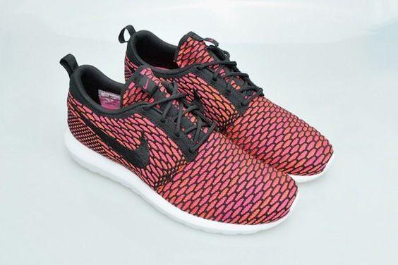 #Nike Flyknit Roshe Run NM - Fireberry #sneakers
