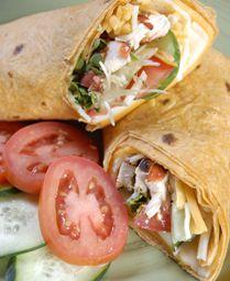 Grilled Chicken wrap / RMR Salsa.